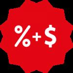 Percentage + Dolar